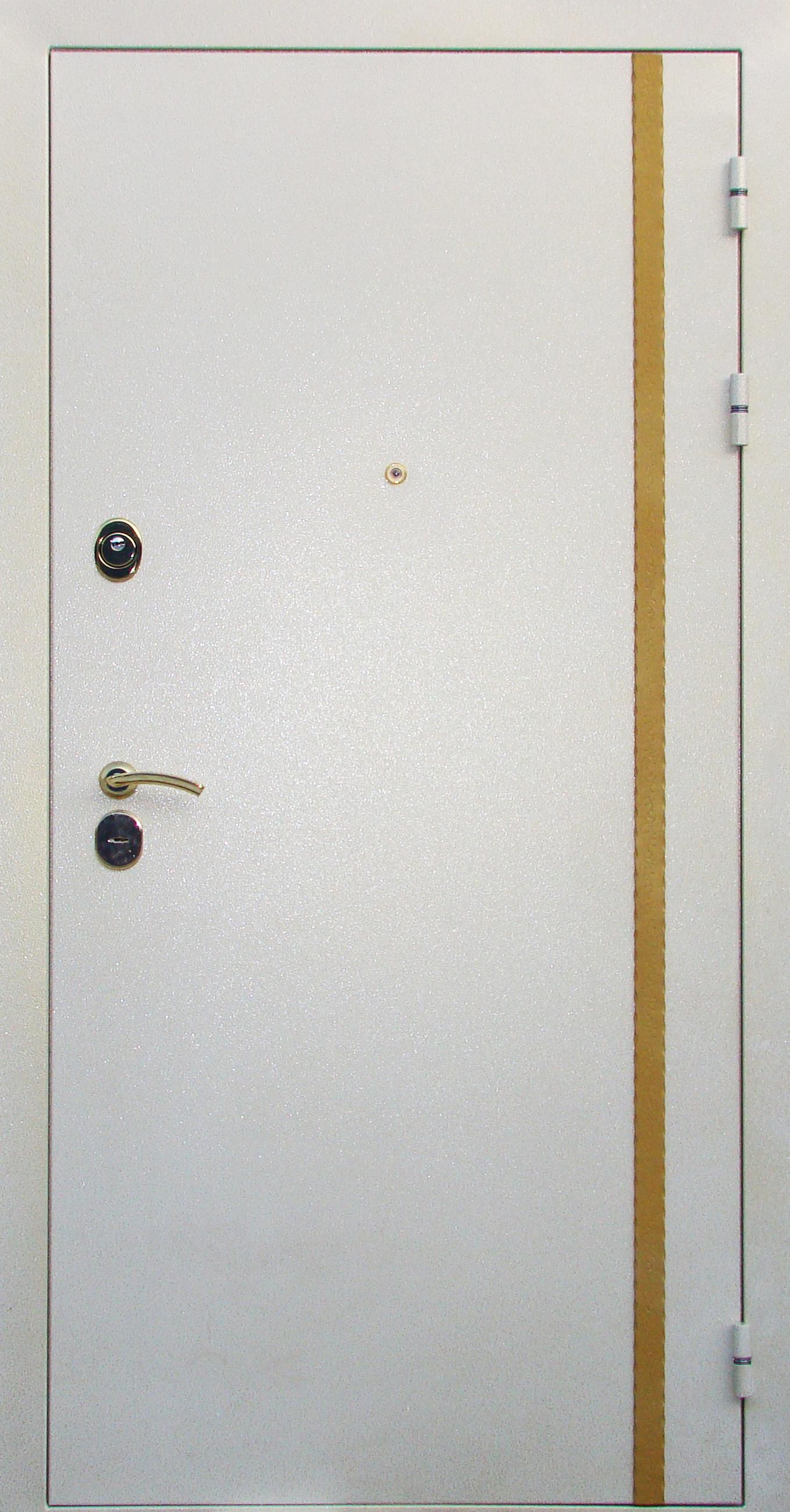 стальная дверь белая с золотом