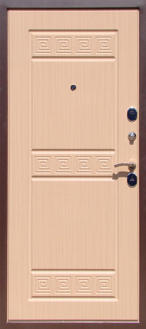 дверь металлическая белый дуб