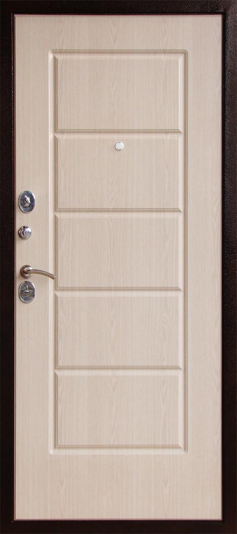 входная металлическая дверь белёный дуб